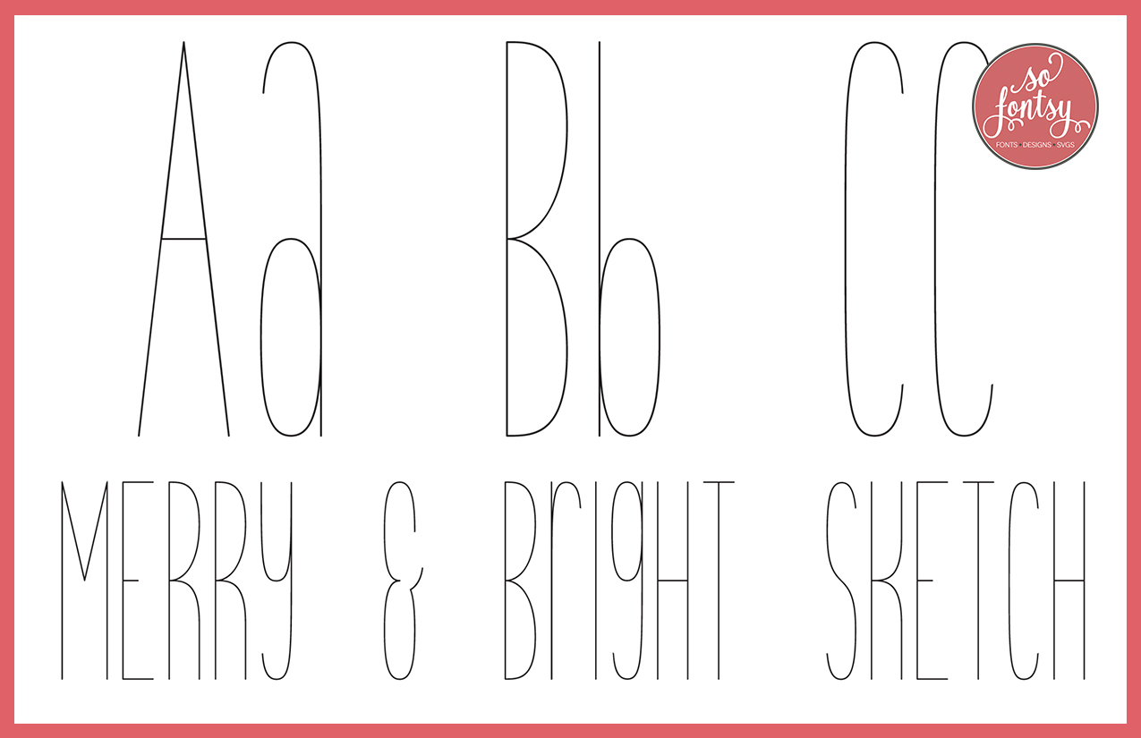 Line free fonts single Best Single